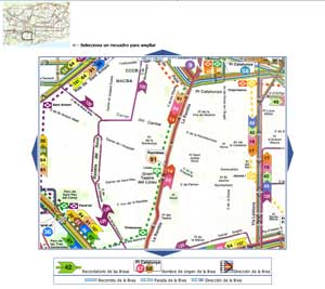Map Barcelona bus night bus and other buses to other destinations