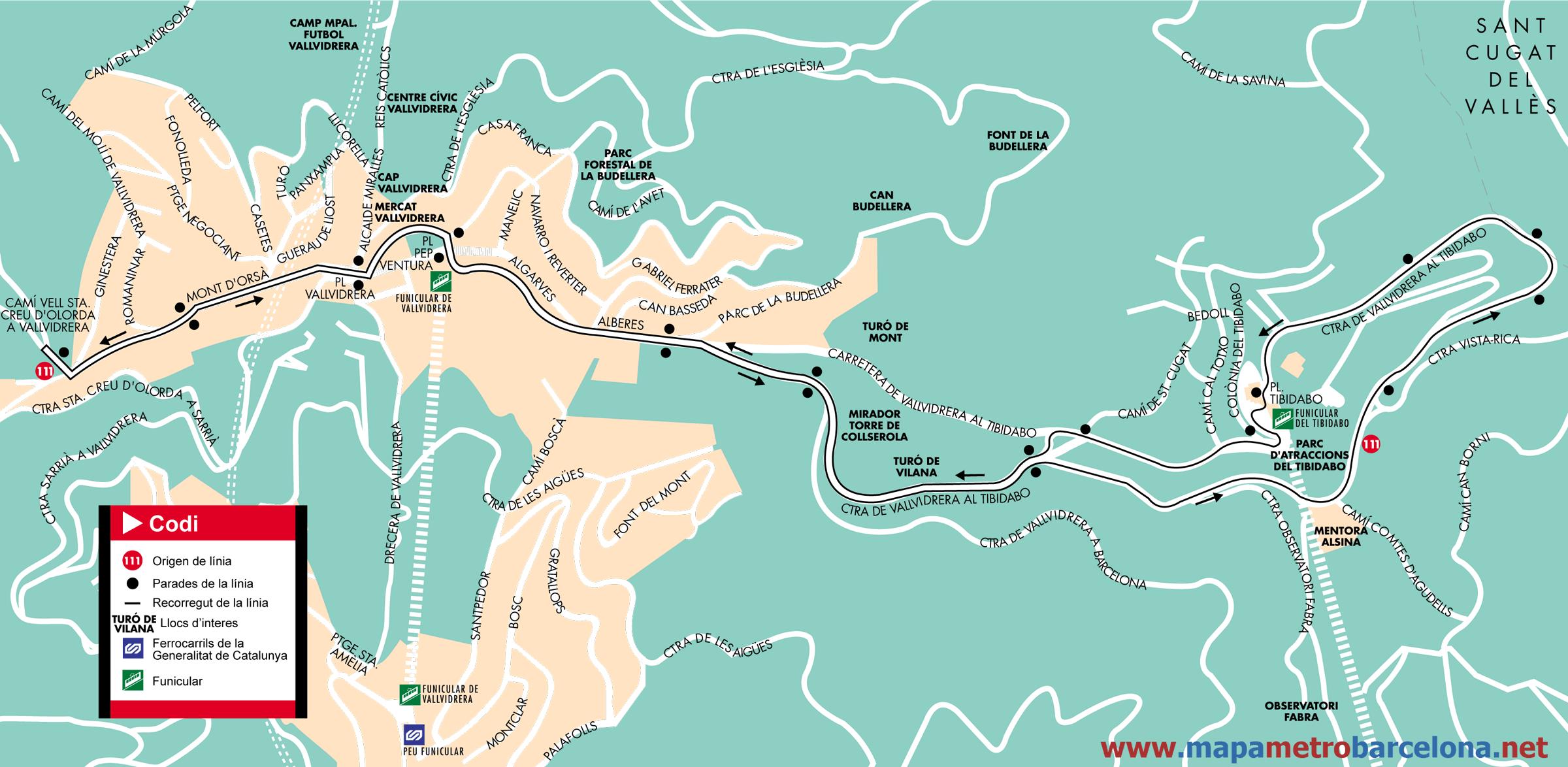 Image gallery tibidabo map - Placa kennedy barcelona ...